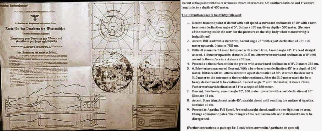 Nazi map - Agartha -The Hollow Earth Theory